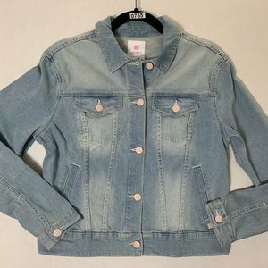 Lularoe Harvey Light Wash Denim Jacket, Size M